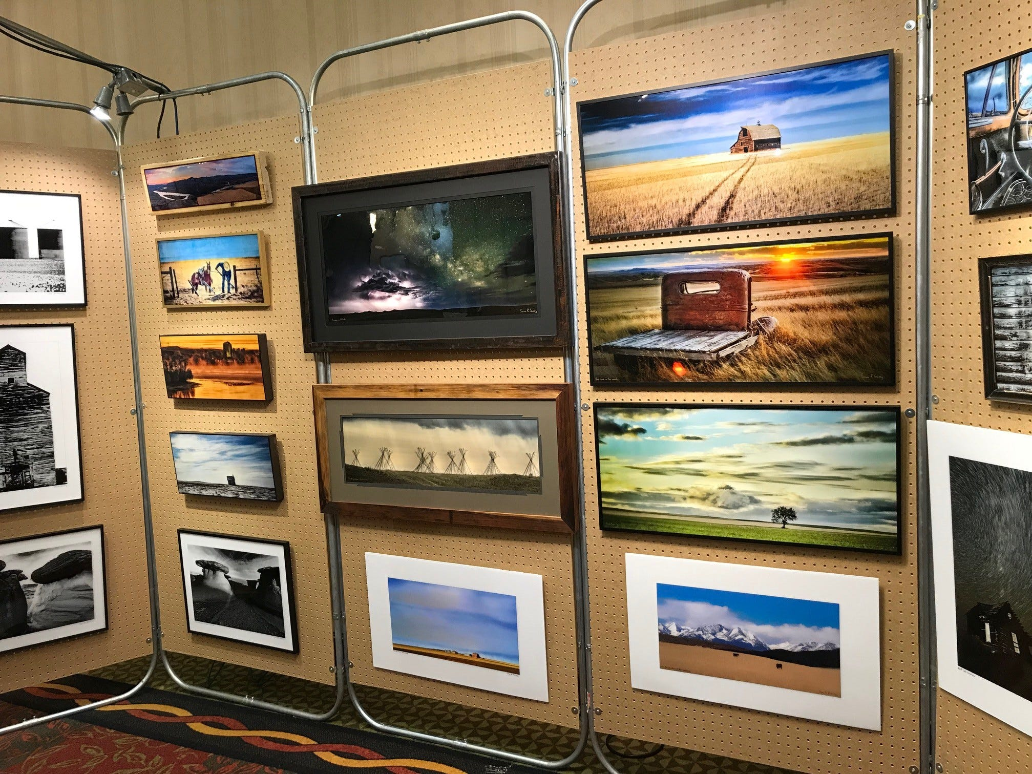 Sean Heavey uses a resin glaze on his photography, which makes the colors pop. He's on display at the Jay Contway Show at the Hilton Garden Inn.