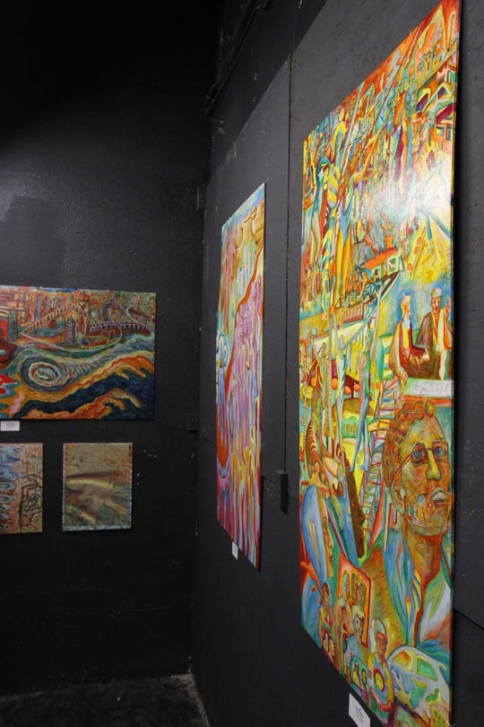 Acrylic on panel painting are just a few of the pieces Julia M .Becker has on display.