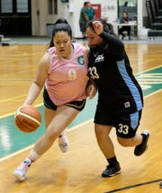 Guam Community College beat the University of Guam's Lady Tridents in the Trident Women's Basketball League 2.5 at the UOG Calvo Field House