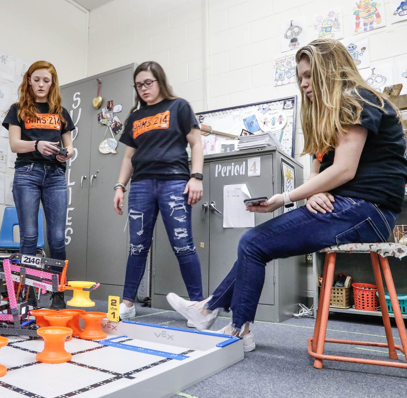 'It's not just for boys': Meet the all-girls robotics team that won a state championship