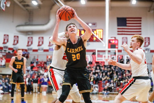 Andrew Owens (20) is a key part to Carmel's veteran core.