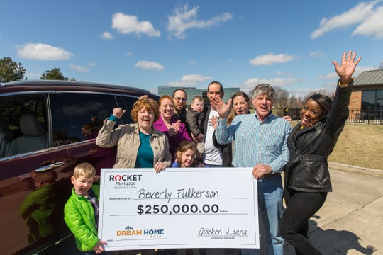 HGTV host Tiffany Brooks suprises Beverly Fulkerson of Osgood, IN. that she is the grand-prize winner of the HGTV Dream Home 2019 located in Whitefish, Montana.