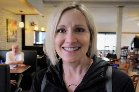 Angela Woodhouse said after Sen. Kirsten Gillibrand's visit to RED Berry Diner in Muscatine Wednesday, March 20, 2019 she is committed to her campaign.