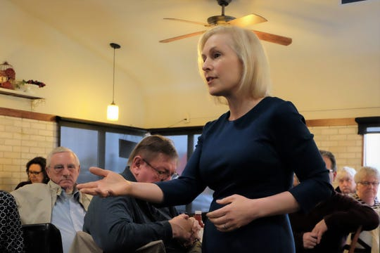 Sen. Kirsten Gillibrand, D-New York, visited RED Berry Diner in Muscatine Wednesday, March 20, 2019.