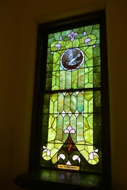 One of the windows in the Reformed Presbyterian Church in Delaware County that will be restored.