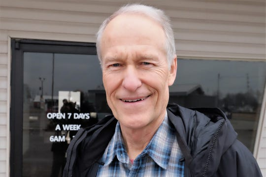 Joseph Woodhouse, a dentist, said he was really impressed by Sen. Kirsten Gillibrand's visit to RED Berry Diner in Muscatine Wednesday, March 20, 2019.