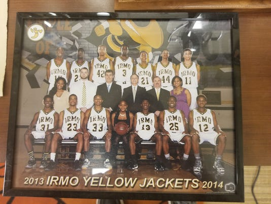 Devontae Shuler high School team photo
