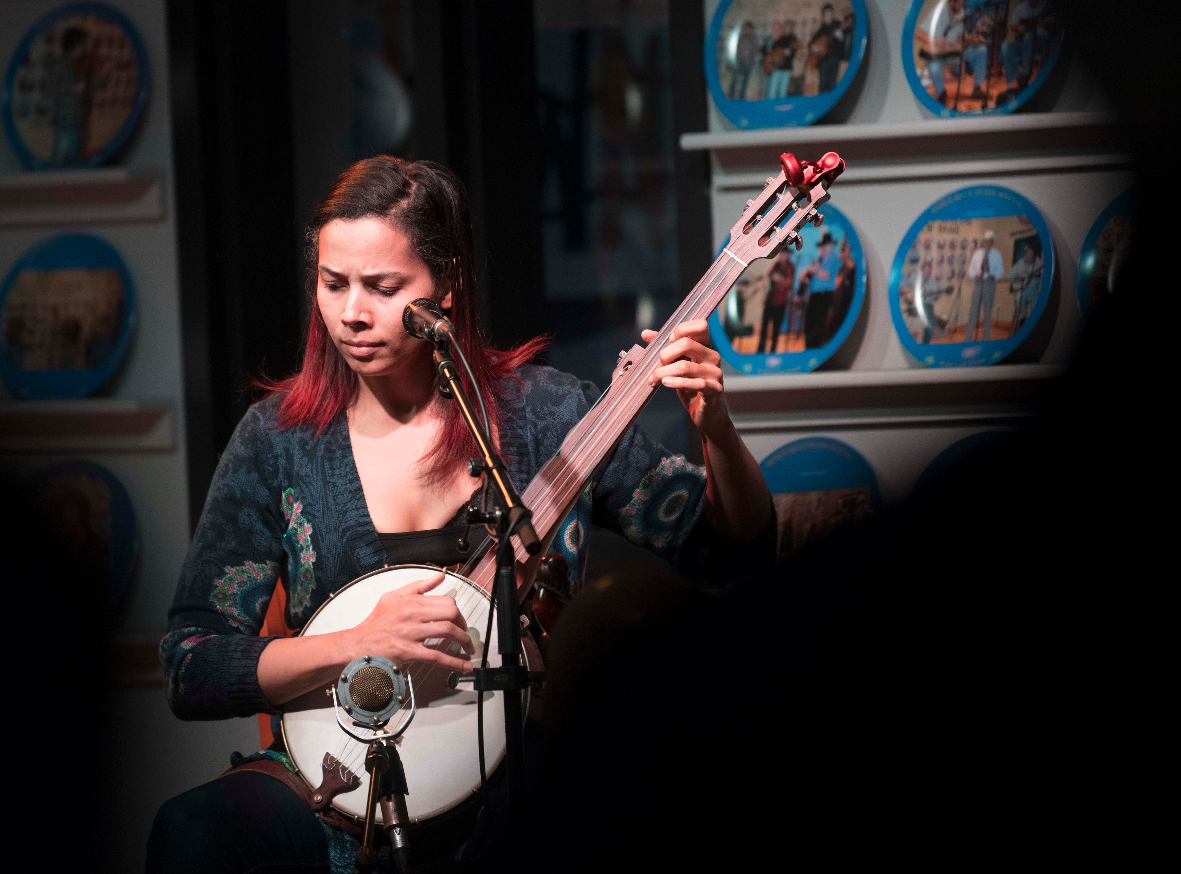 Rhiannon Giddens performs during the WDVX Blue Plate Special in downtown Knoxville Thursday, March 21, 2019. The concert is the first performances of the 2019 Big Ears festival.