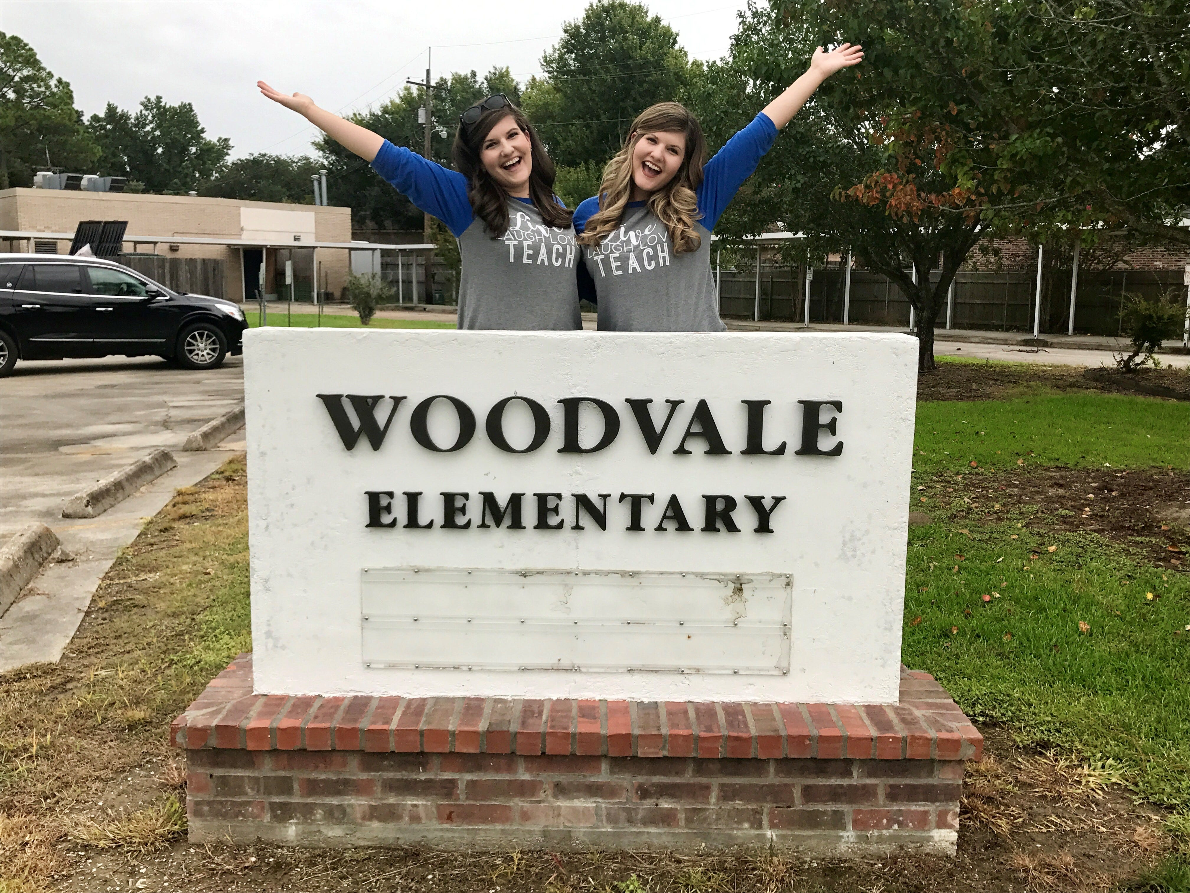 Morgan Mercado and Taylor Wallace are identical twins both teaching gifted at Woodvale Elementary School in Lafayette, Louisiana, where they once took gifted classes.