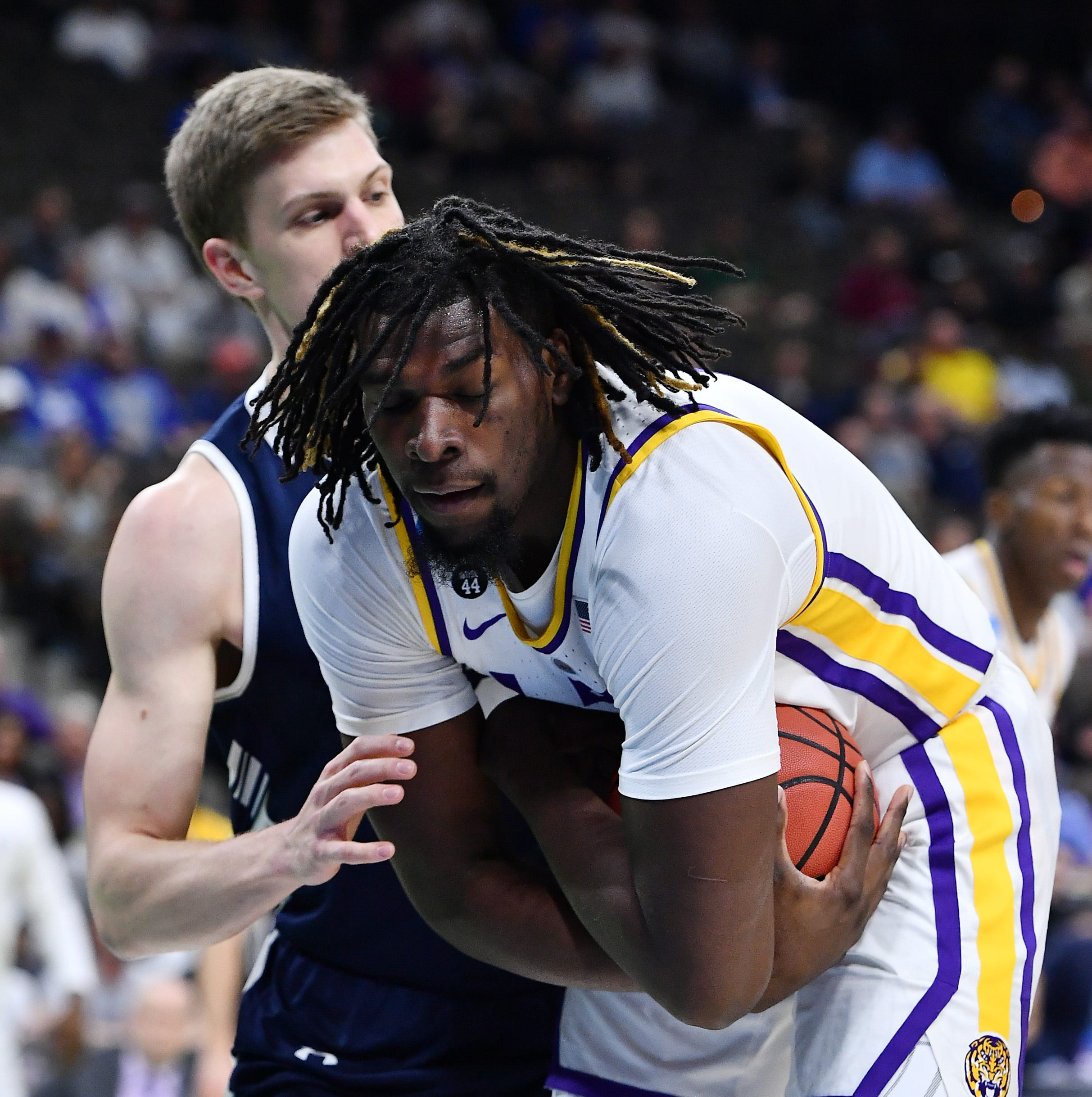 LSU survives late rash of 3-pointers to beat Yale, 79-74; Tigers to play Maryland Saturday