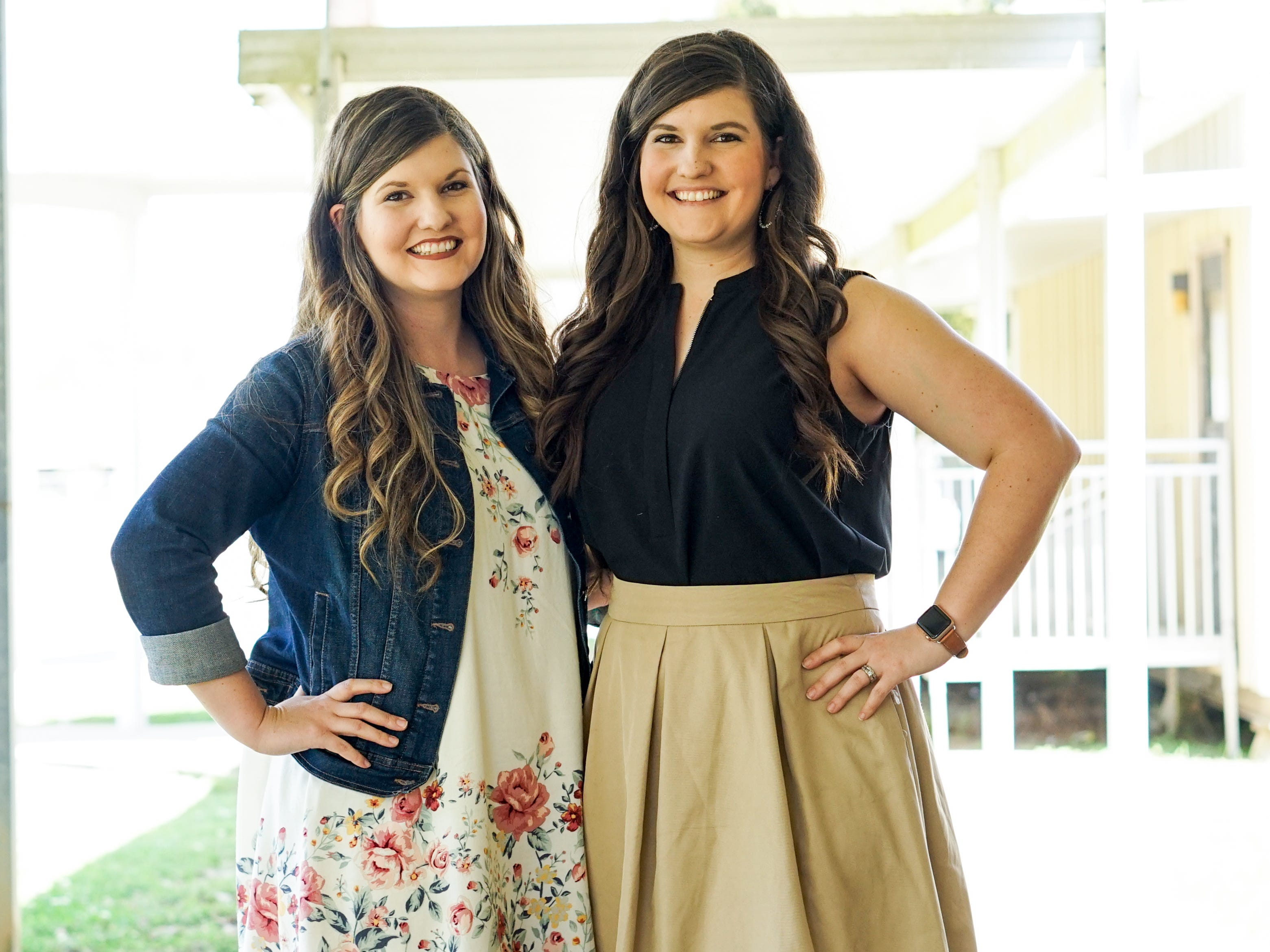 Twin sisters Taylor Wallace and Morgan Mercado share the same love for teaching at Woodvale Elementary School in Lafayette, Louisiana.
