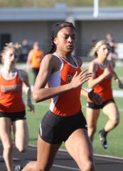 Brighton's Brooke Gray won the 200-meter dash at the Saginaw Valley State University Indoor Invitational.