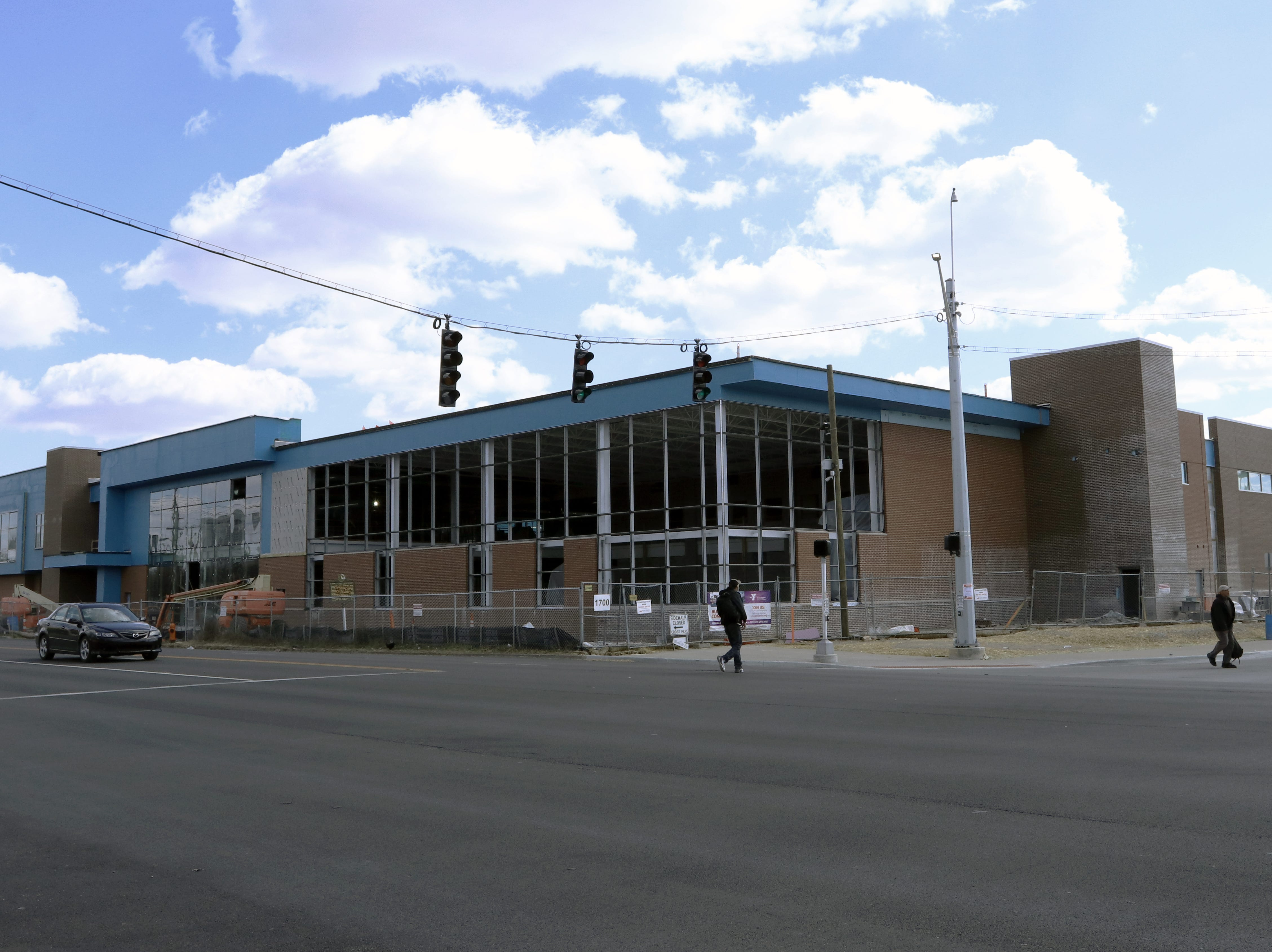 A YMCA is under construction at the intersection of Broadway and 18th Street in Louisville.