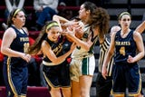 See some of the action and hear remarks from Hannah Spitzley and Ellie Droste following a state semifinal win March 21, 2019.