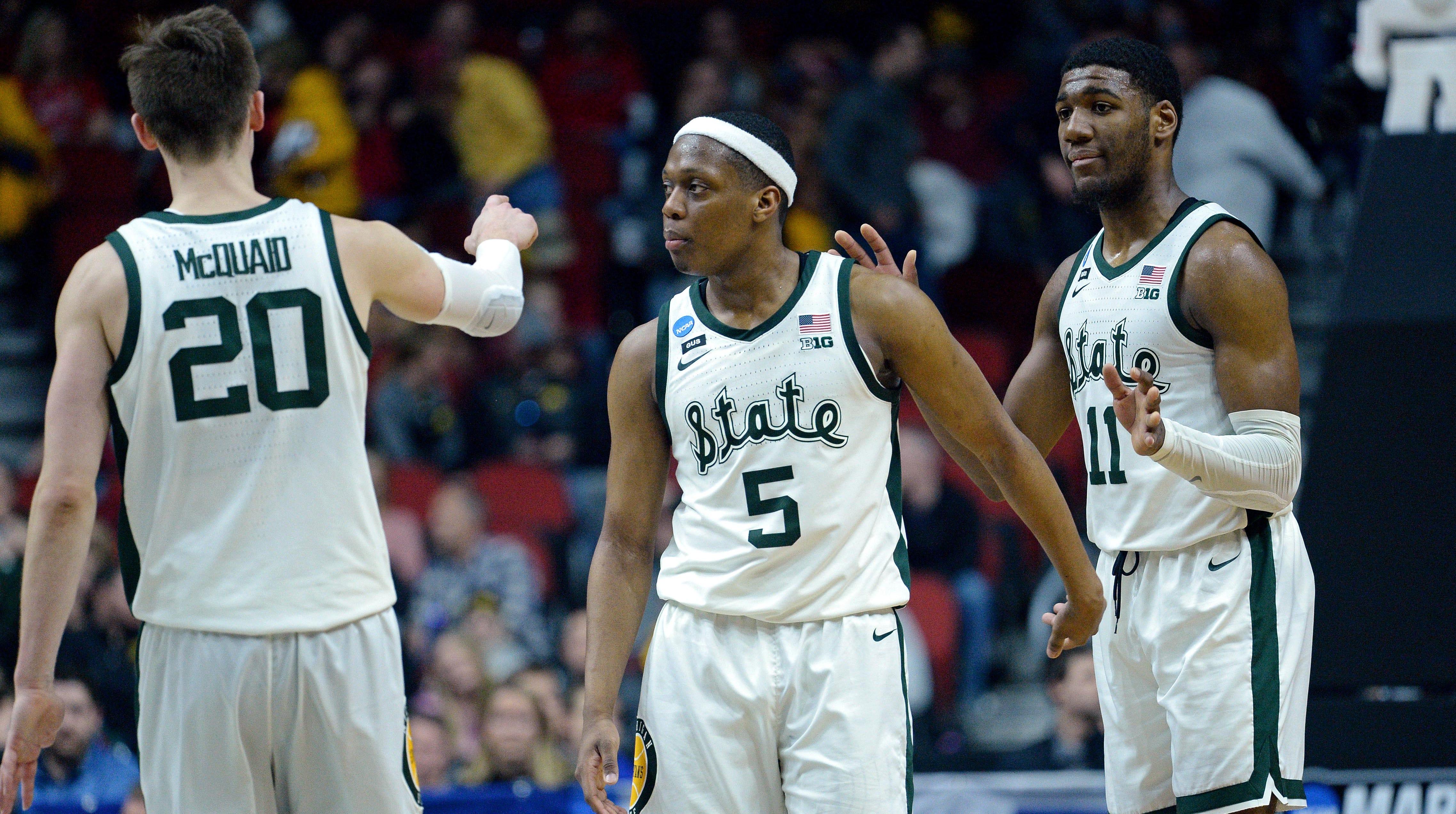 Michigan State Spartans guard Cassius Winston...
