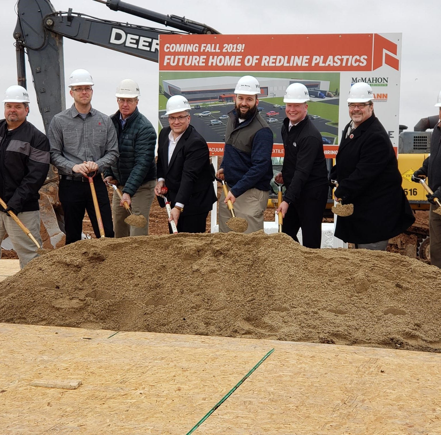 Redline Plastics breaks ground on new headquarters in Manitowoc I-43 tech campus