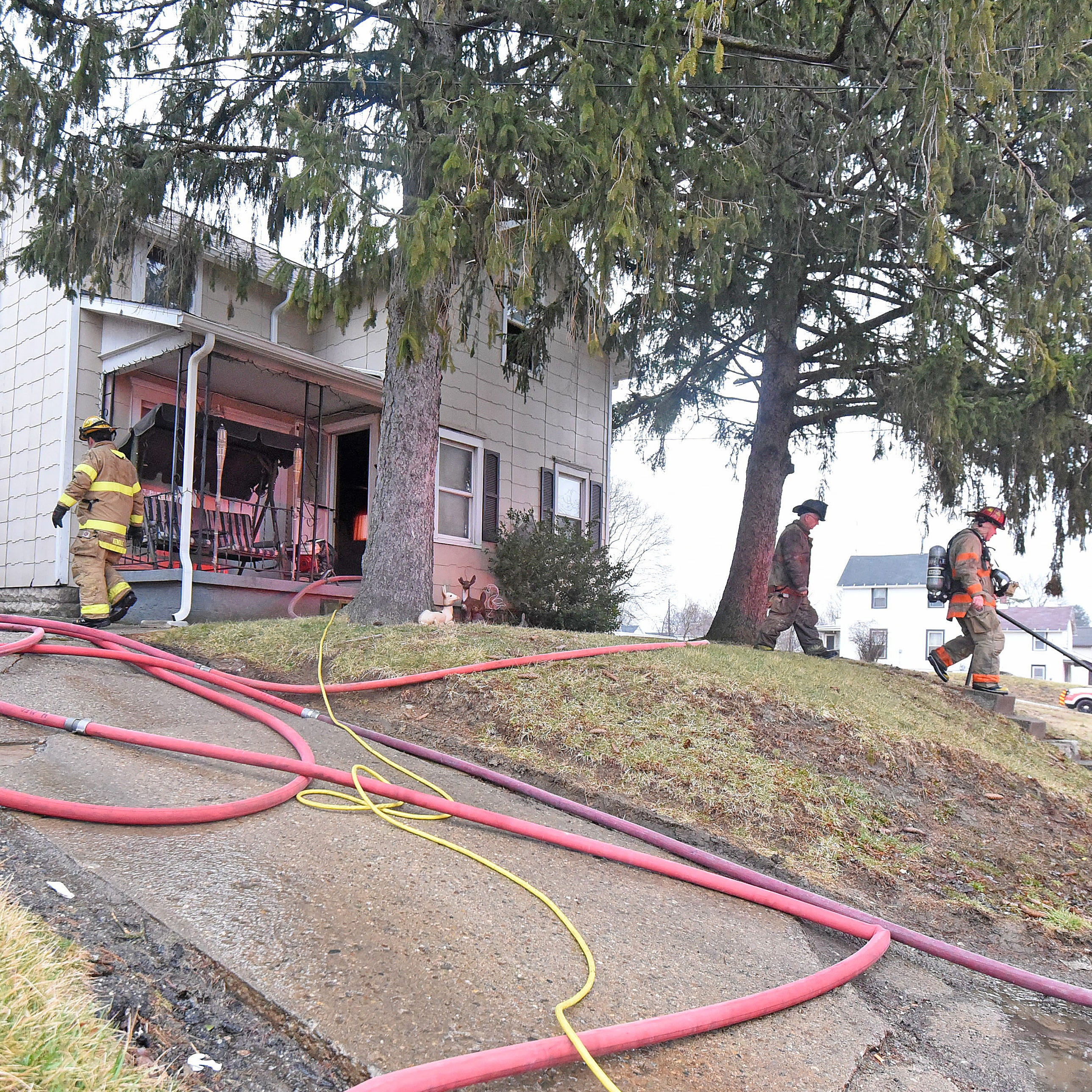 House fire on Harker Street displaces 6 occupants