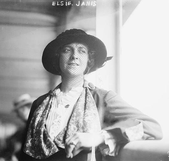 Elsie Janis (1889-1956), an American singer, songwriter, actress, and screenwriter.
