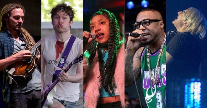 The Milwaukee Journal Sentinel's Bands to Watch for 2019 include (from left) Chicken Wire Empire, Telethon, Zed Kenz, Vincent Van Great and Crystal Knives.