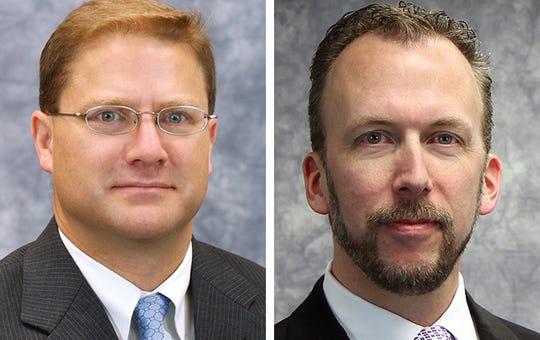 Milwaukee County Supervisor John Weishan (left) and board Chairman Theodore Lipscomb Sr.