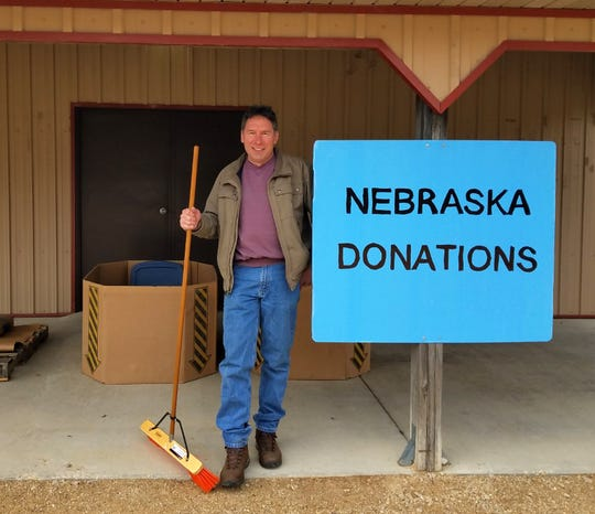 Wisconsin farmer Joe Keller, warehouse manager at Wollersheim Winery, is collecting donations to help his flooded-out counterparts in Nebraska. The winery is the drop-off point.