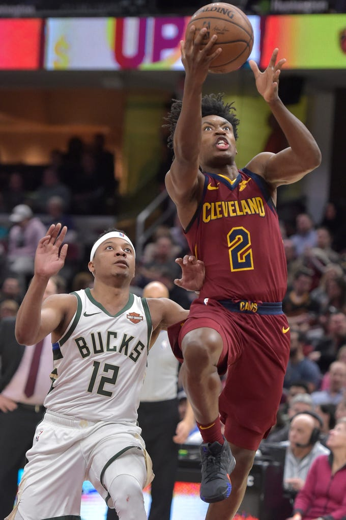 The Bucks had trouble slowing Collin Sexton, who led the Cavaliers with 25 points on Wednesday night in Cleveland.