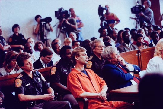 Jeffrey Dahmer in court.
