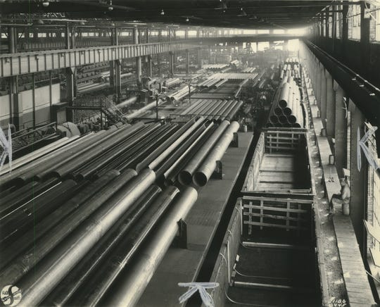 A.O. Smith Corp. autoworks existed in the last century as a sprawling campus of cathedral-sized factories, employing as many as 10,000 at a time. The archive image is from 1945.