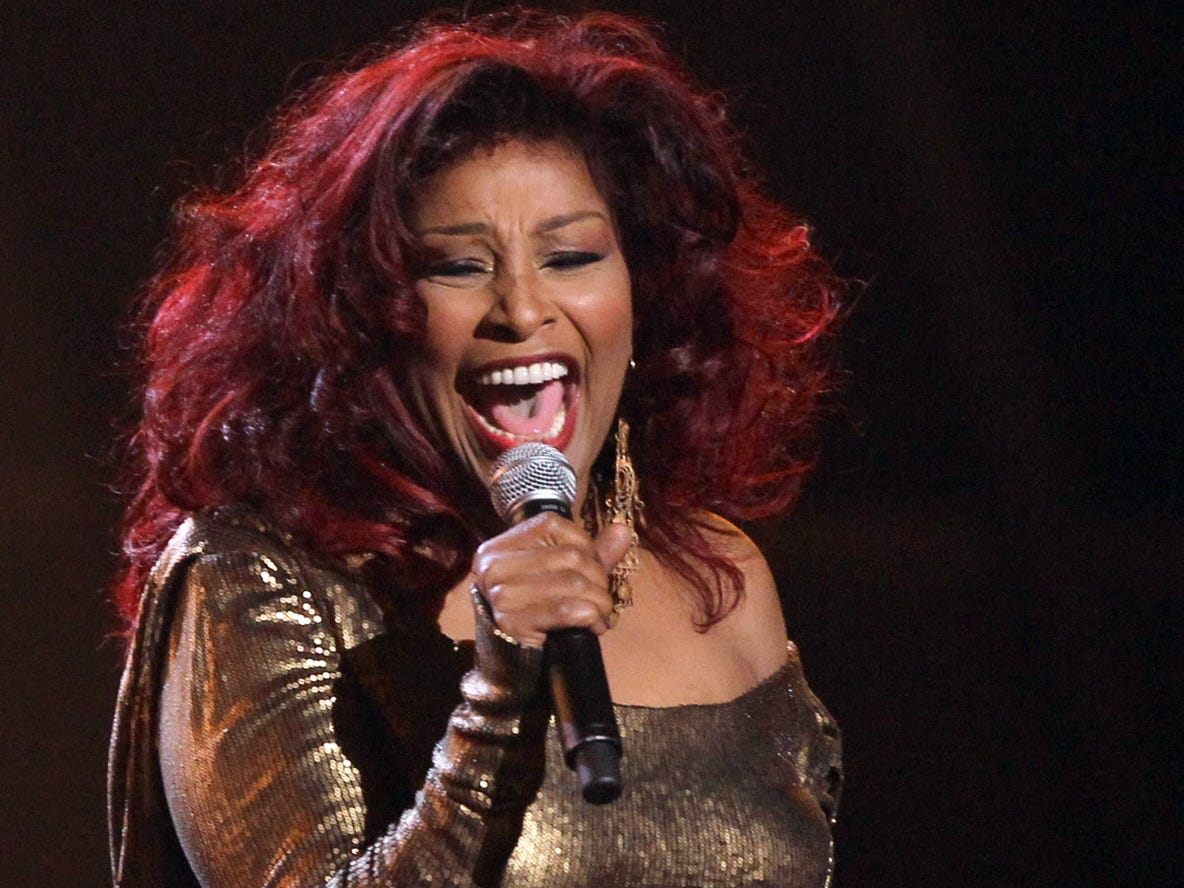 Chaka Khan performs during the in memoriam for Whitney Houston at the BET Awards on Sunday, July 1, 2012, in Los Angeles. (Photo by Matt Sayles/Invision/AP) ORG XMIT: NYENT222