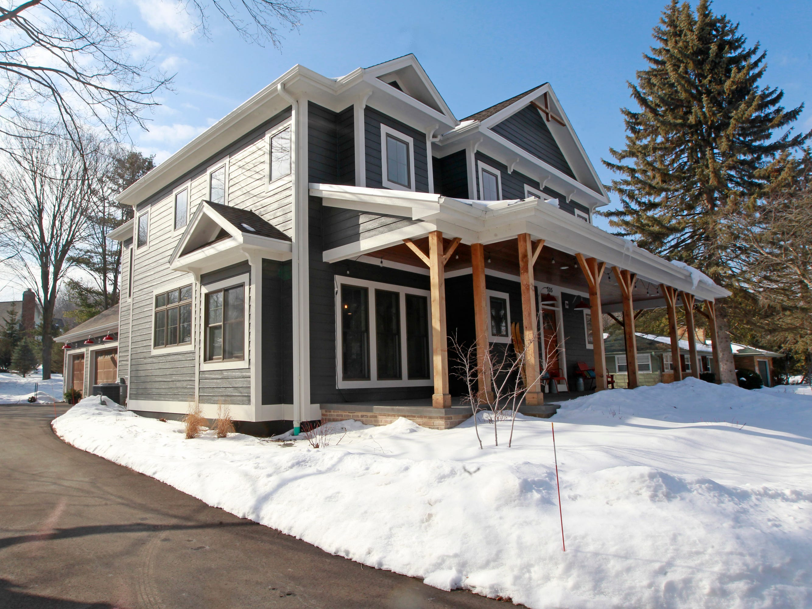 Laura and Kurt Goranson wanted to keep the charm of a farmhouse when they built their two-story house in Elm Grove in 2017. It has a little over 3,000 square feet, with three bedrooms and 3 ½ baths.
