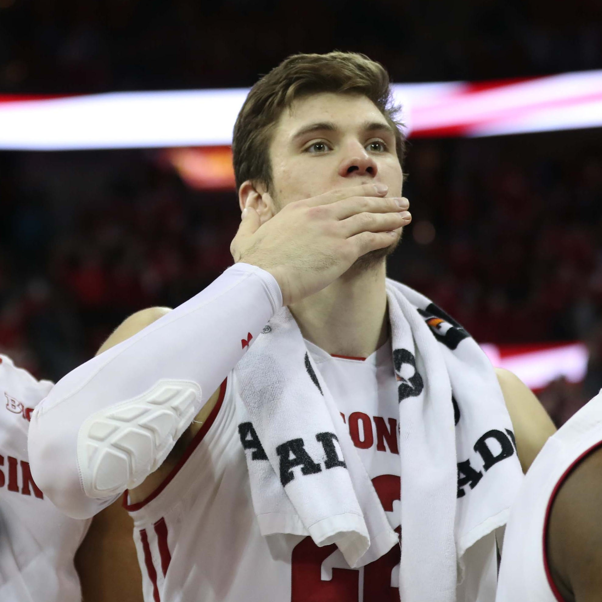 Ethan Happ will leave Wisconsin after the NCAA Tournament as one of the Badgers' greatest players