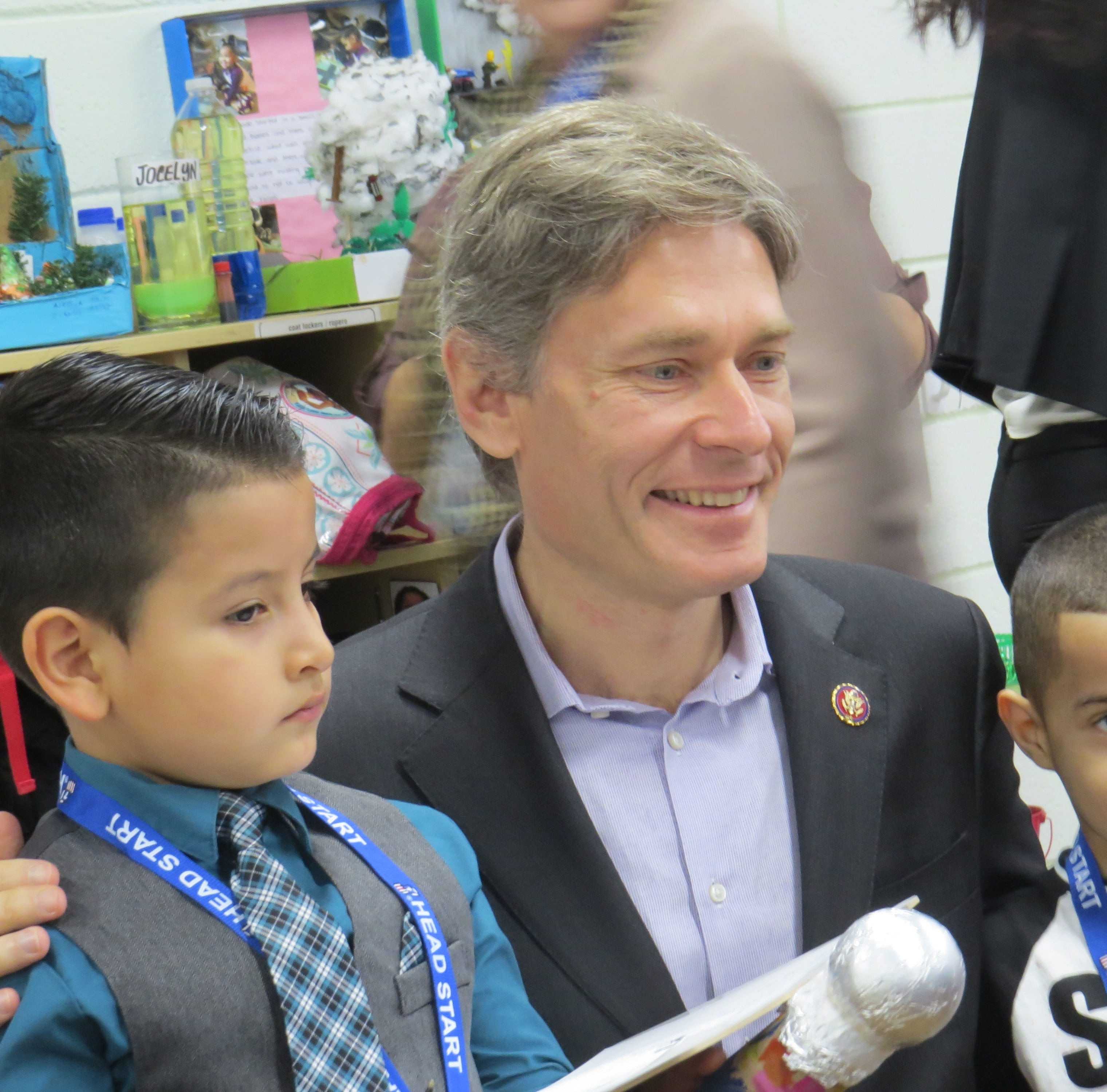 New congressman grilled by preschool 'journalists'