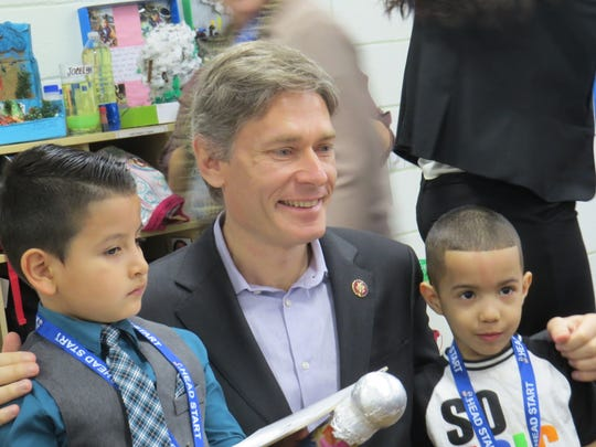 "Rep. Tom Malinowski visited the Head Start Community Program of Morris County and sat for ""interviews"" with preschool journalists. March 21, 2019"