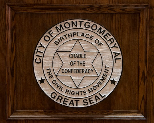The Montgomery City Council Chambers located in City Hall in downtown Montgomery, Ala., on Thursday March 21, 2019.