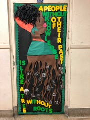 Artwork done by Sidney Lanier sophomore Alexis Baker for Black History Month in 2019.