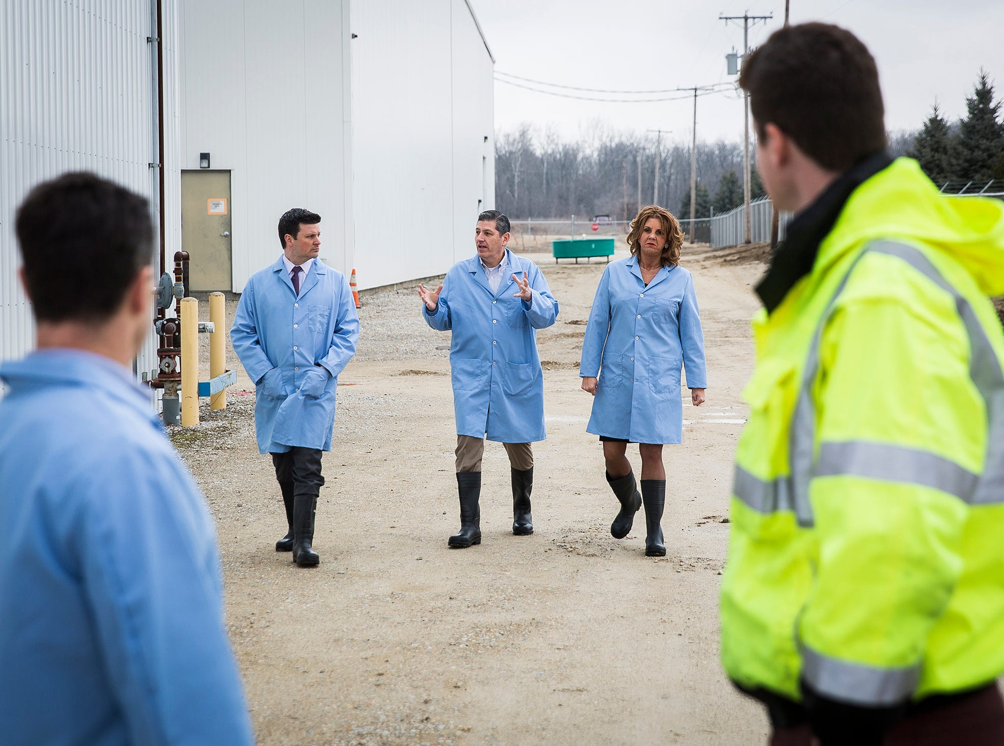 Sen. Todd Young toured the AquaBounty facility where an FDA ban on genetically modified salmon was recently lifted.