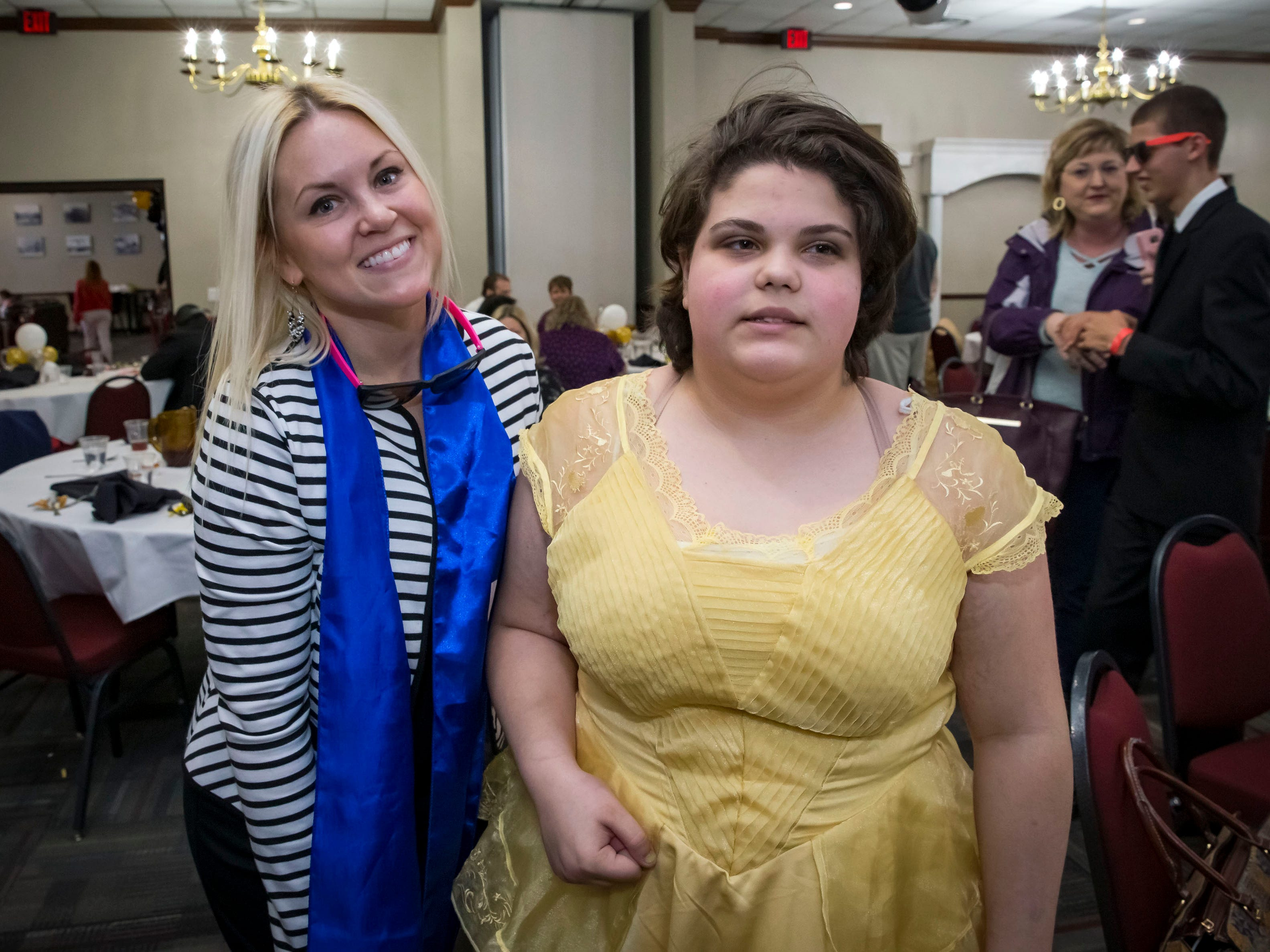 Autumn Shands and Luna Lattanzi at the Rutherford County Schools special needs prom held at Smyrna Event Center.