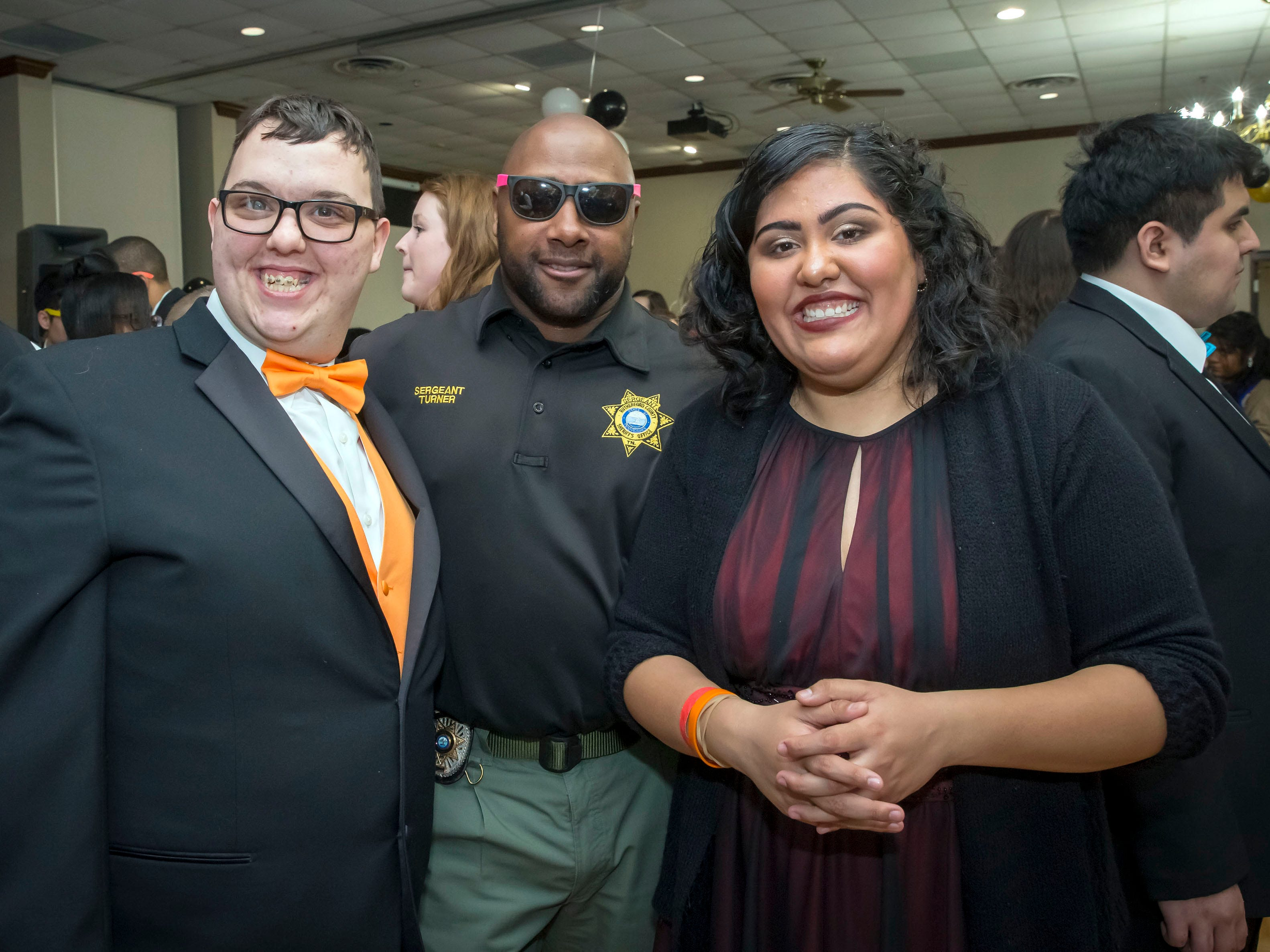 Sgt. Turner and Leslie Fernandez at the Rutherford County Schools special needs prom held at Smyrna Event Center.