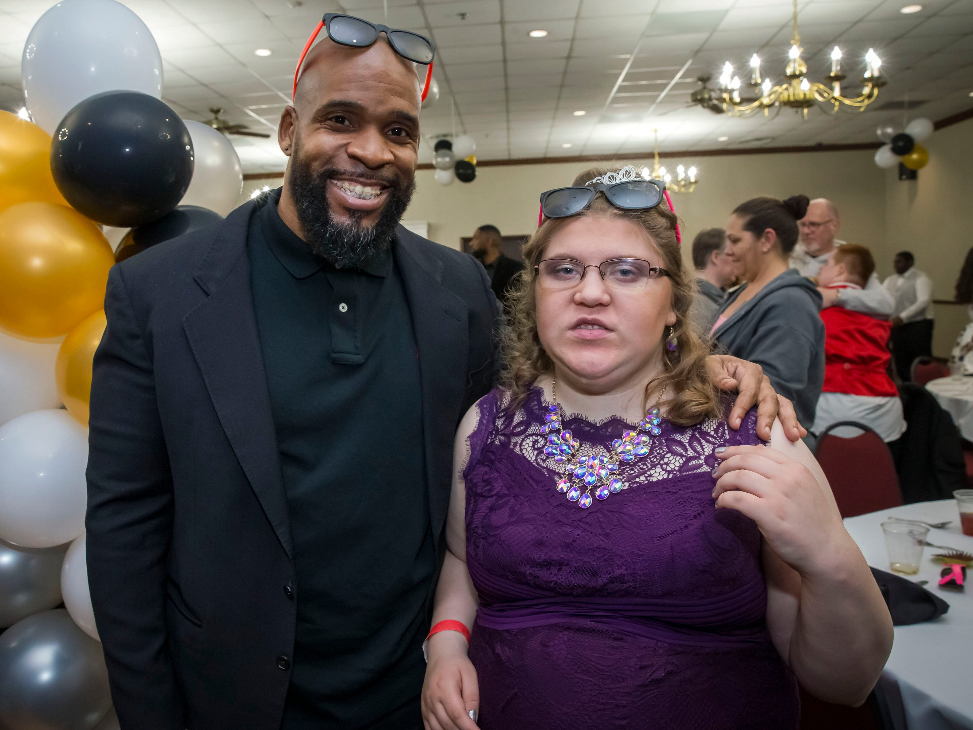 Blackman High coach Dwone Hicks and student Kayla Capps were among those at the Rutherford County Schools special needs prom, held Wednesday  at Smyrna Event Center.
