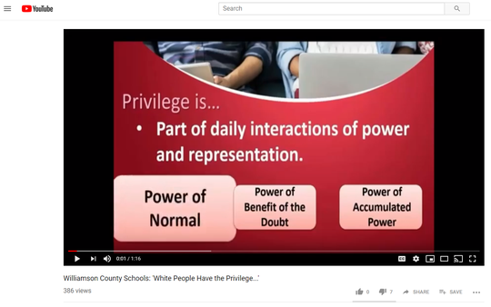 The Williamson County GOP blasted Williamson County Schools over a series of training videos on privilege and bias.