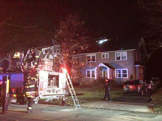 Firefighters respond to Hawthorne Avenue in Glen Ridge March 20, 2019.