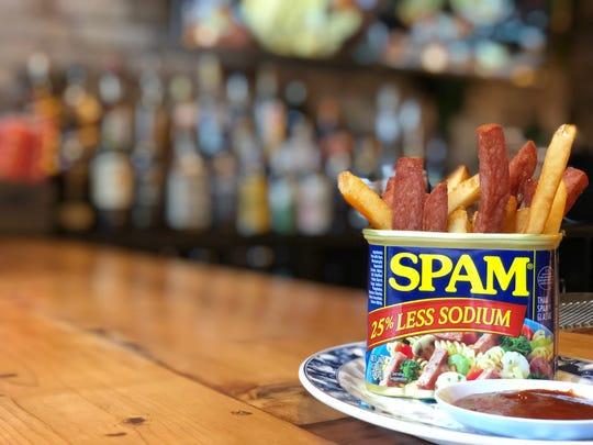 Spam fries at the Talde drag brunch.
