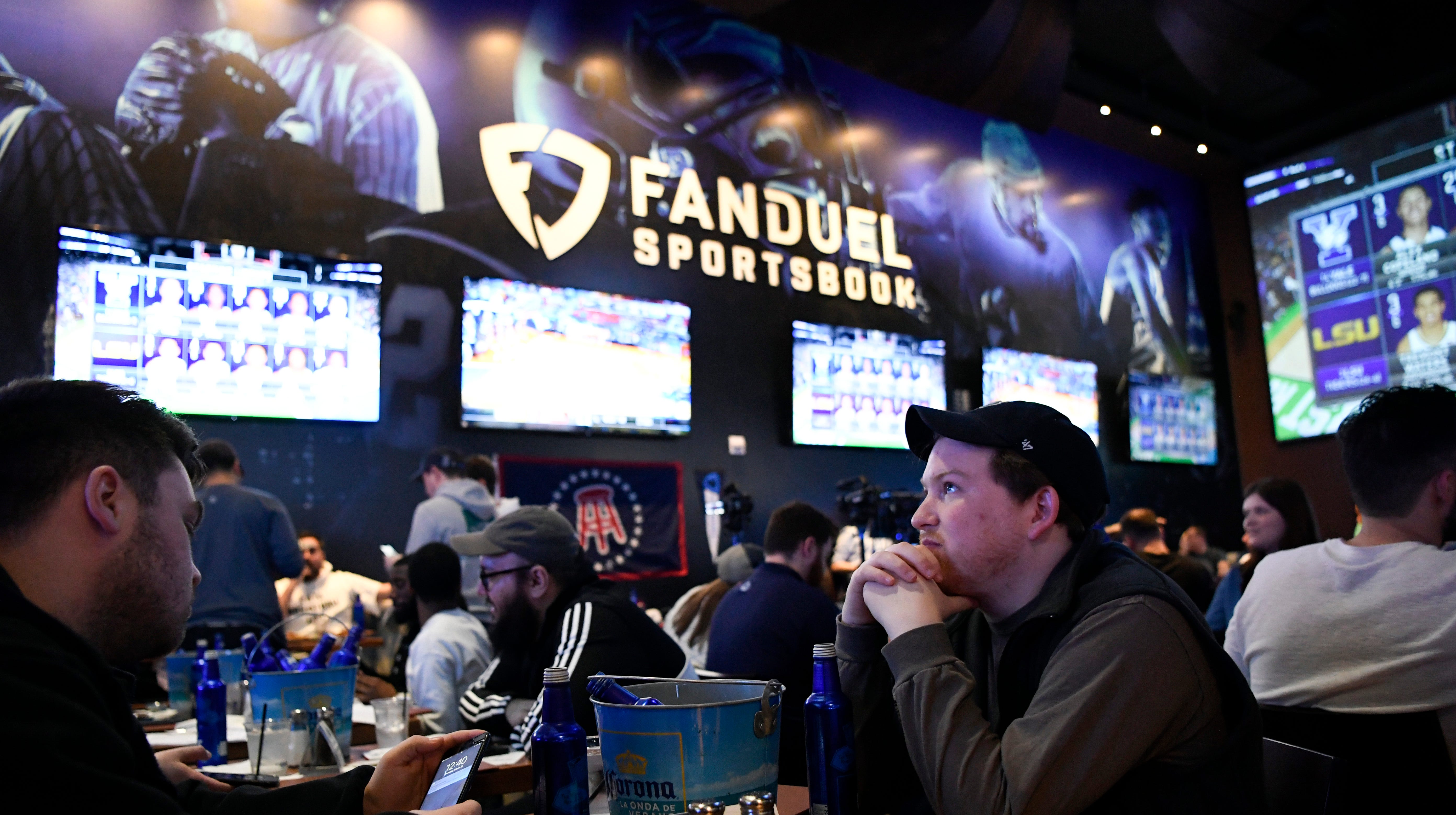 In the Meadowlands, a big sports venue meets the small screen