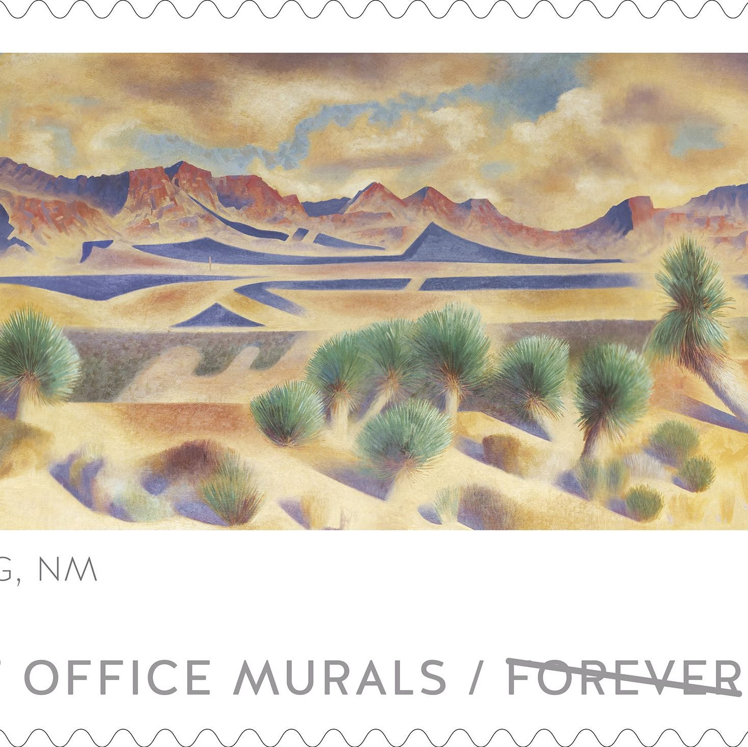 Deming Post Office mural featured on U.S. Postal Service commemorative stamp