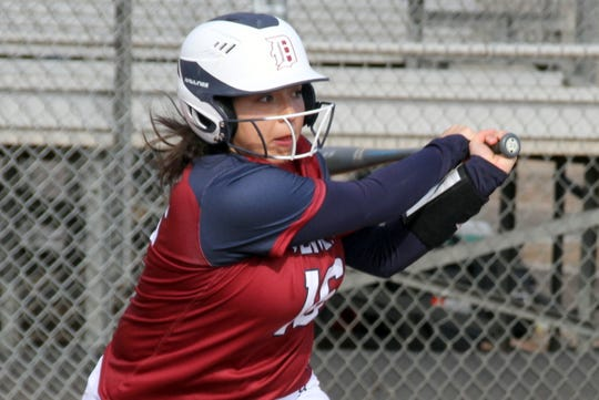 Freshman slugger Nayeli Trujillo has been swinging a hot bat for the Deming High Lady 'Cats.