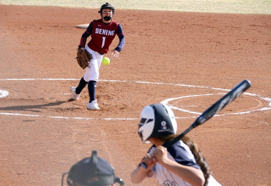 Freshman Lady Cat Bianca Valverde kept Silver High hitters off-stride by changing speeds from the pitcher's circle.