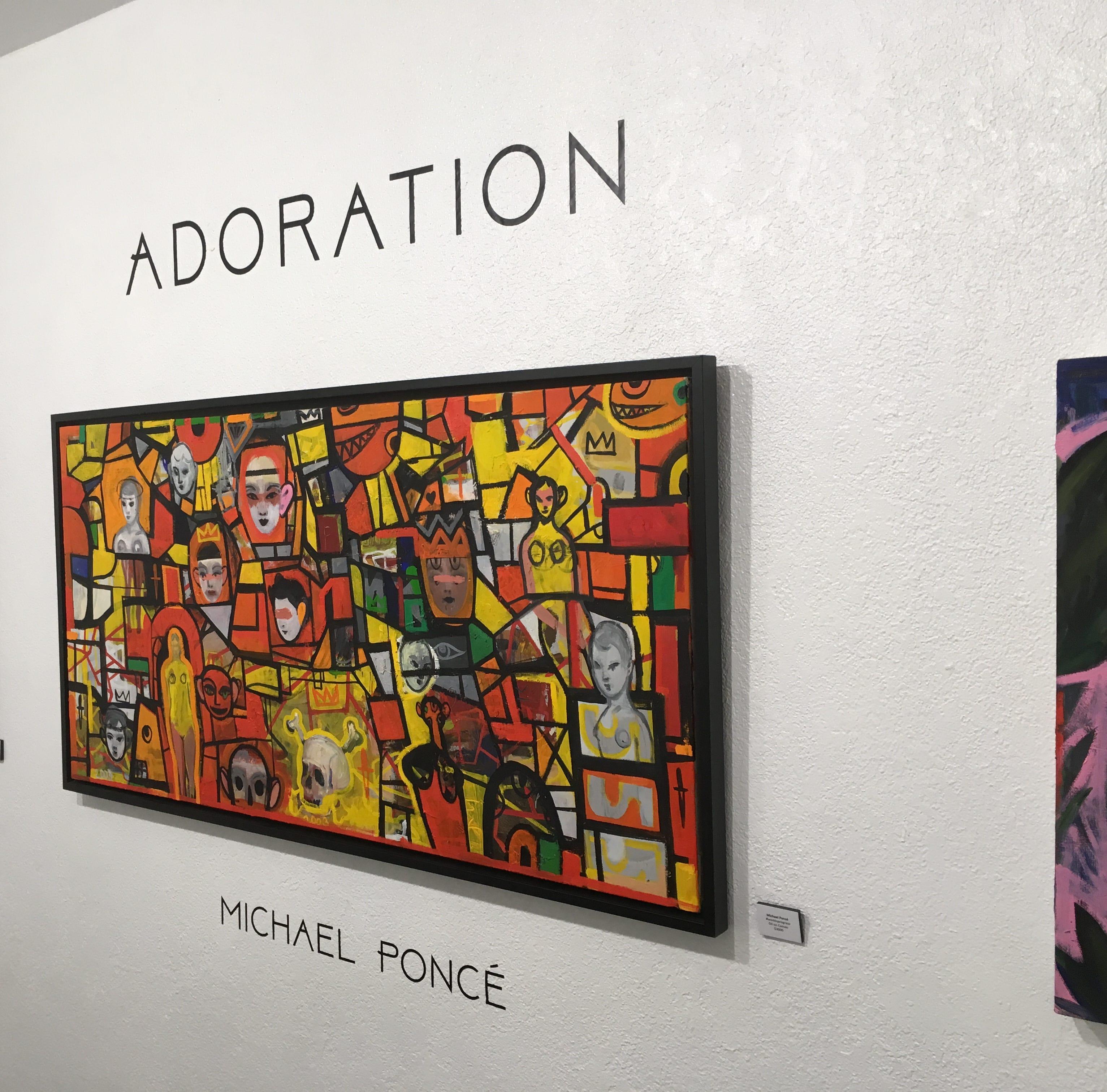 'Adoration' art show explores numerous sides of one model