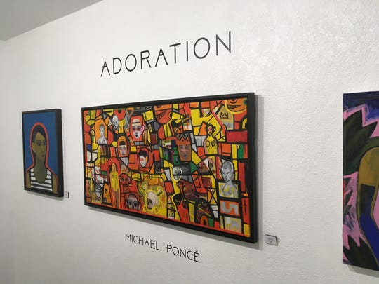 "The exhibit ""Adoration,"" showing at Art Obscura until April 7, 2019, takes inspiration from model Trisha McCaul."