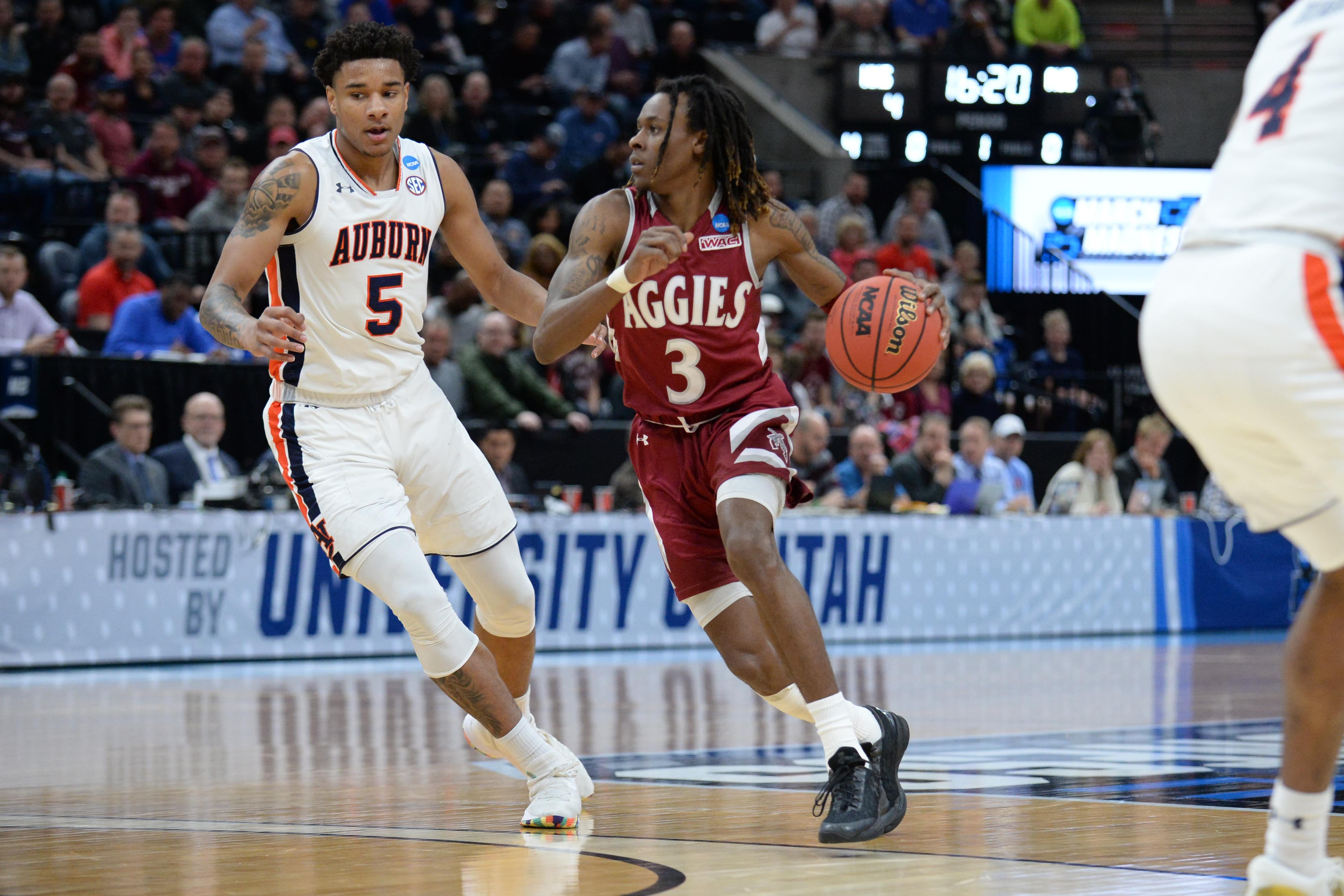 NCAA tournament: New Mexico State's upset bid falls just short against No. 5 seed Auburn