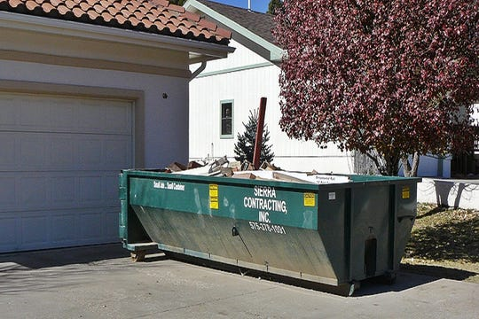 Roll-off containers can be arranged for debris from home remodeling projects.